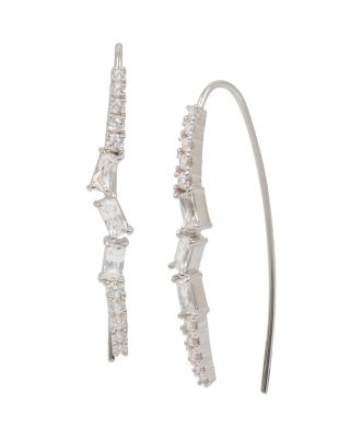 Betsey Blue Jazz Stick Earrings Crystal