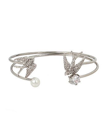 BETSEY BLUE LOVE BIRDS DOVE CUFF SET
