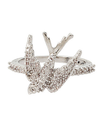 BETSEY BLUE LOVE BIRDS DOVE RING