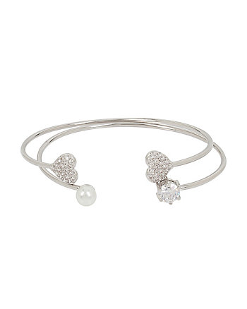 BETSEY BLUE LOVE BIRDS HEART CUFF SET