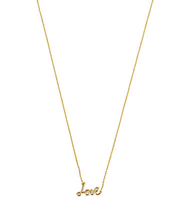 BETSEY BLUE LOVE GOLD PENDANT