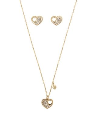 Image of BETSEY BLUE LOVE LETTERS GOLD HEART SET GOLD