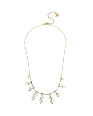 Image of BETSEY BLUE LOVE LETTERS GOLD SPRAY NECKLACE GOLD