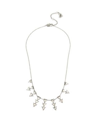 Image of BETSEY BLUE LOVE LETTERS SILVER SPRAY NECKLACE SILVER
