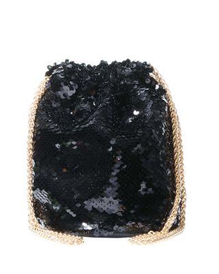 Betsey blue paillette bag black