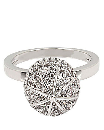 BETSEY BLUE PAVE BALL RING SET