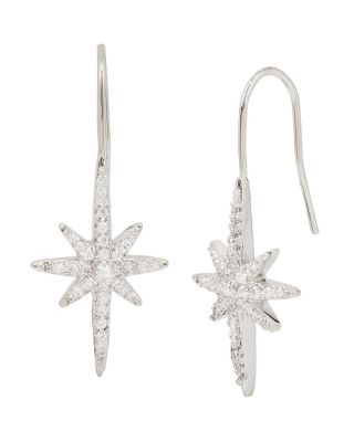 BETSEY BLUE STARBURST EARRINGS CRYSTAL