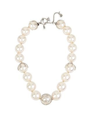 BETSEY BLUE STUNNING PEARLS NECKLACE CRYSTAL