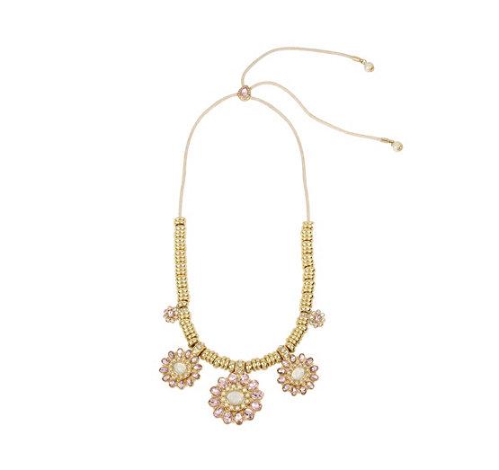 Betsey blue tickled pink flower necklace betsey johnson mightylinksfo