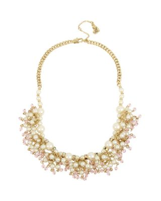 Image of BETSEY BLUE TICKLED PINK SHAKY NECKLACE IVORY