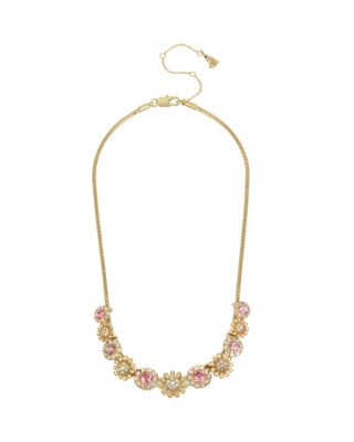 BETSEY BLUE TICKLED PINK SLIDER NECKLACE PINK