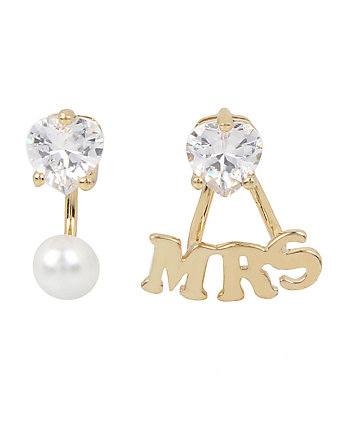 BETSEY BLUE WORD PLAY MRS EARRINGS