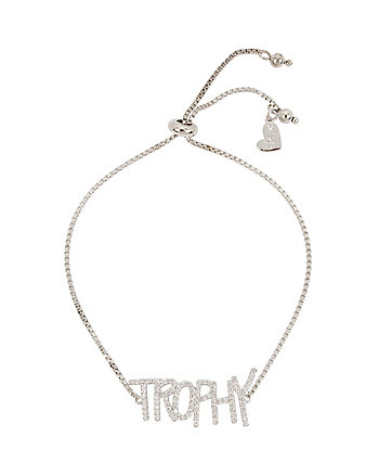 BETSEY BLUE WORD PLAY TROPHY BRACELET