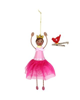 BETSEY GIFTING PRINCESS AND BIRD ORNAMENT PINK