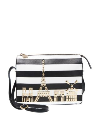 BETSEY IN THE CITY CROSSBODY BLACK/WHITE
