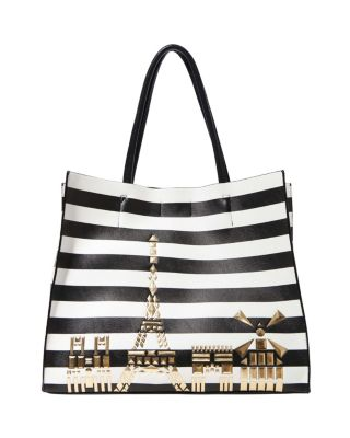 BETSEY IN THE CITY TOTE BLACK/WHITE