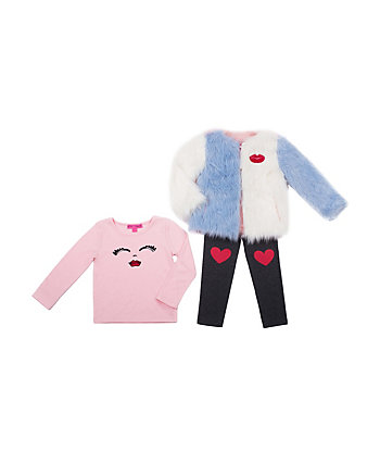 BETSEYEST TODDLER 3 PIECE JACKET SET