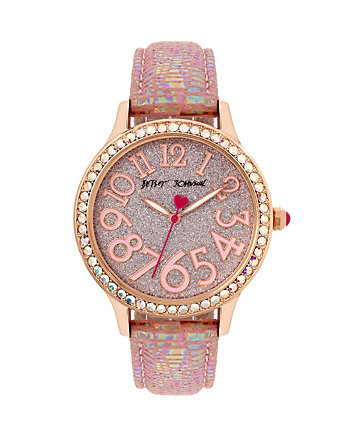 BETSEYS BOXED BLUSHING SHIMMER WATCH