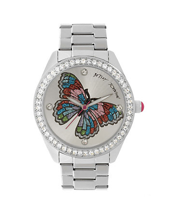 BETSEYS BOXED BUTTERFLY SHIMMER WATCH