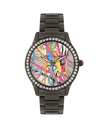 BETSEYS BOXED GRAFFITI WATCH