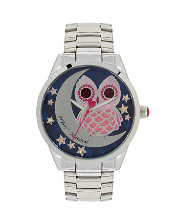 BETSEYS BOXED OWL AND MOON WATCH
