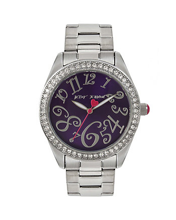 BETSEYS BOXED PURPLE SPARKLE WATCH
