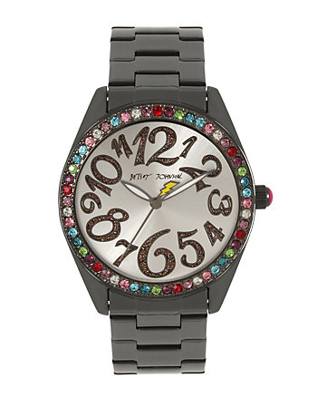 BETSEYS BOXED RAINBOW CRYSTALS WATCH