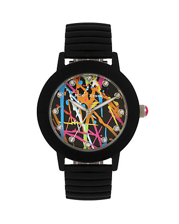 BETSEYS BOXED RUBBERIZED GRAFFITI WATCH