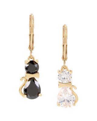 Betseys critters cat drop earrings multi