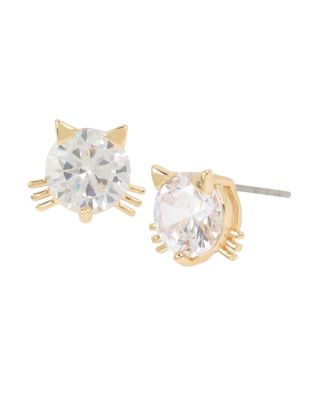 Image of BETSEYS CRITTERS CAT STUDS CRYSTAL