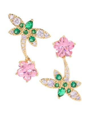 BETSEYS CRITTERS DRAGONFLY STUDS GREEN