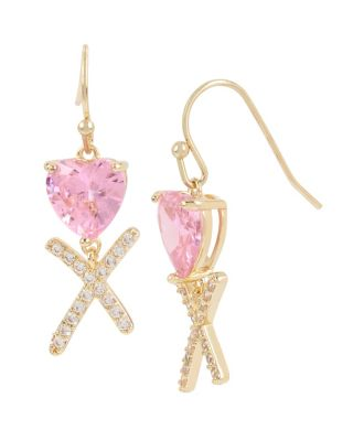 BETSEYS CRITTERS XO DROP EARRINGS PINK