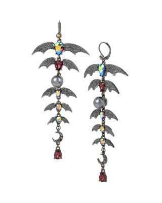 BETSEYS DARK MAGIC BAT EARRINGS BLACK