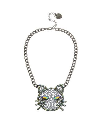 BETSEYS DARK MAGIC CAT PENDANT BLACK