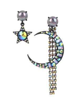 BETSEYS DARK MAGIC MOON EARRINGS BLACK