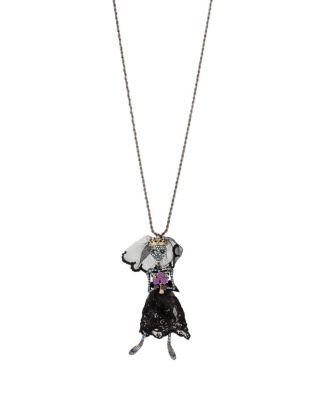 BETSEYS DARK MAGIC SKELETON PENDANT BLACK