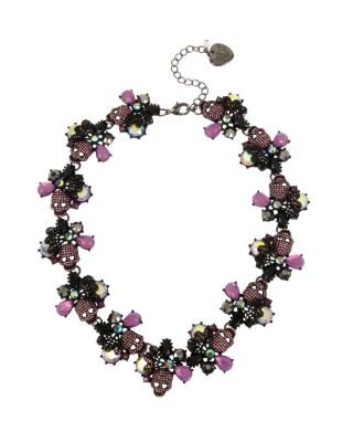 BETSEYS DARK MAGIC SKULL COLLAR PURPLE