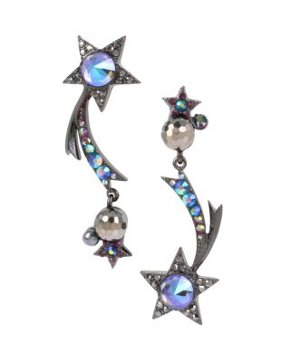 BETSEYS DARK MAGIC STAR EARRINGS BLACK