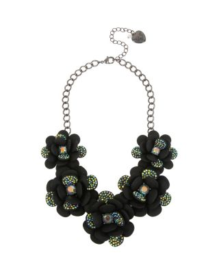 BETSEYS DARK MAGIC STATEMENT NECKLACE BLACK