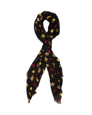 BETSEYS EMOJIS SCARF BLACK