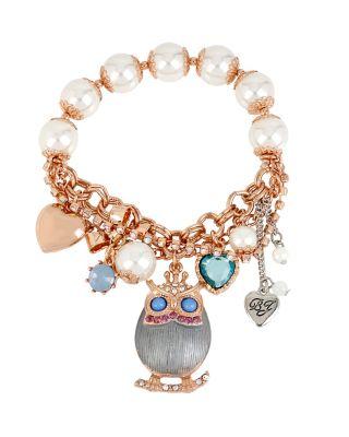 BETSEYS FAVE OWL BRACELET BLUE