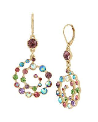 Betseys funfetti swirl earrings multi