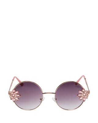 Image of BETSEYS SIDE PIECE SUNGLASSES GOLD