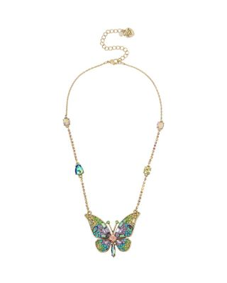Image of BLOOMING BETSEY BUTTERFLY PENDANT MULTI