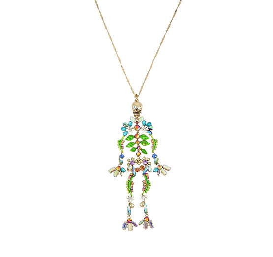 Blooming betsey skeleton pendant betsey johnson aloadofball Gallery