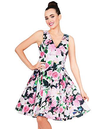 BLOOMING ROSES DRESS