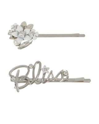 Image of BLUE KITSCH BLISS HAIR PIN SET CRYSTAL