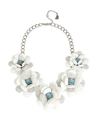 Blue la la flower statement necklace betsey johnson mightylinksfo