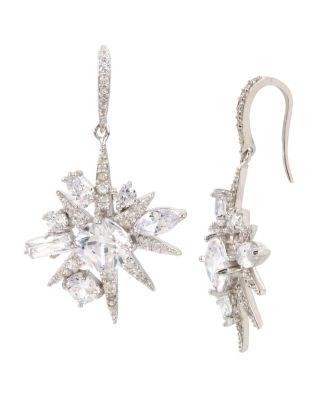 Blue Starlet Cluster Earrings Crystal
