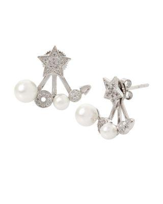 Blue Starlet Star Earrings Crystal